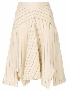 Isabel Marant striped skirt - Neutrals