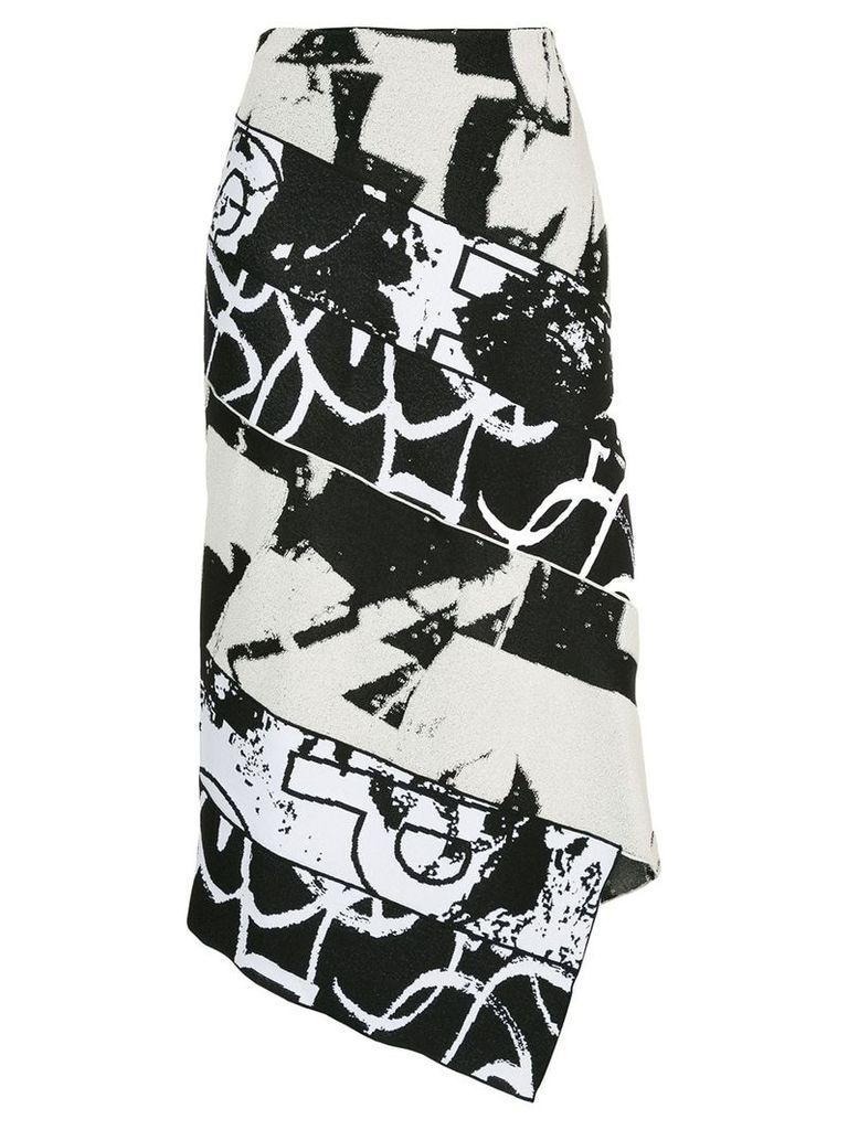 Proenza Schouler asymmetric pencil skirt - Black