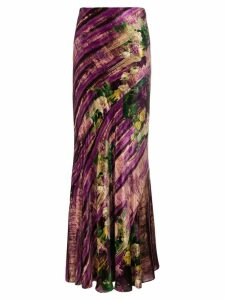 Alberta Ferretti long abstract skirt - Pink