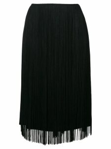 Stella McCartney fringe midi skirt - Black