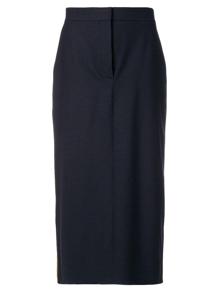 Calvin Klein 205W39nyc contrast stripe pencil skirt - Blue