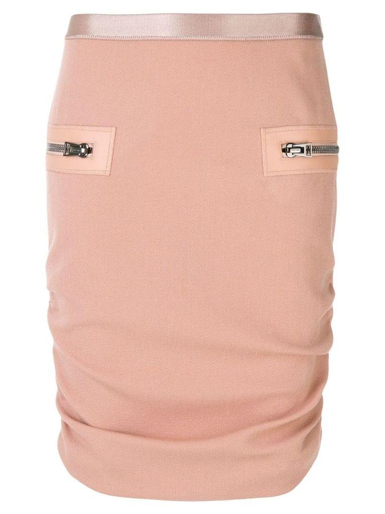Tom Ford gathered sides skirt - Pink