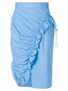 Ermanno Scervino ruched skirt - Blue