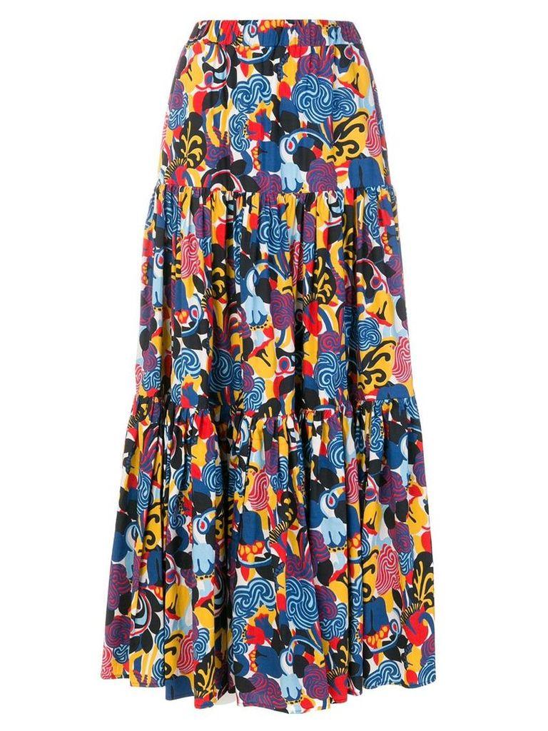 La Doublej Zoo print skirt - Blue