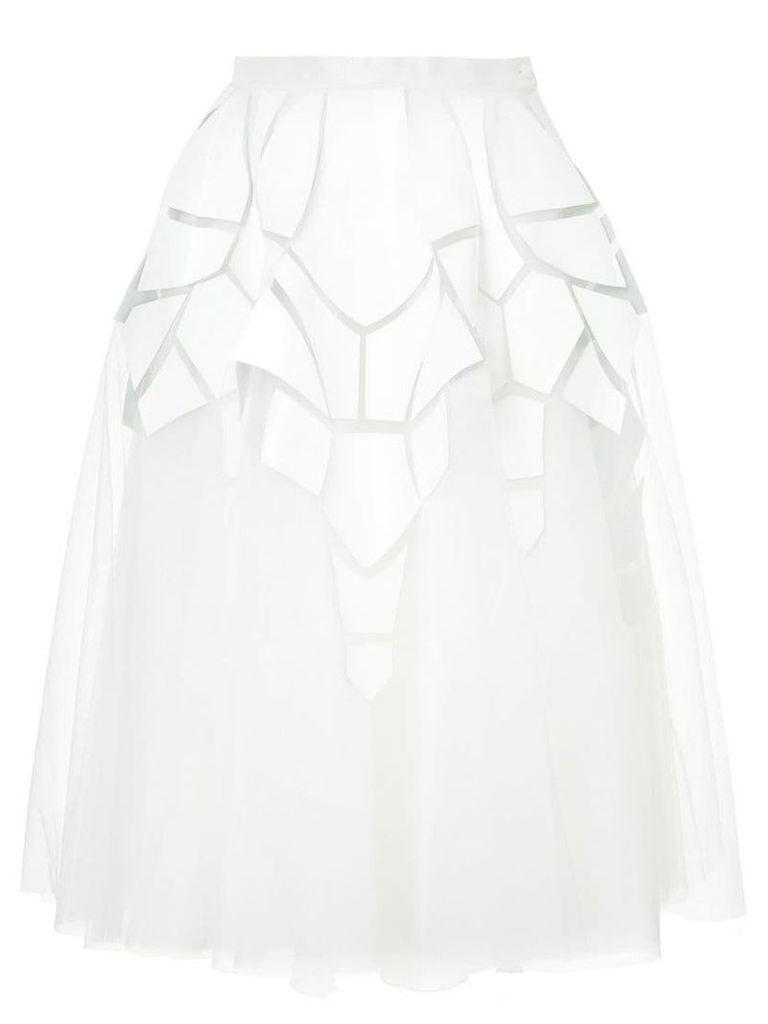 Isabel Sanchis flared midi skirt - White