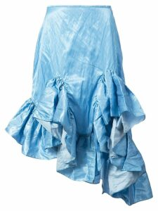 Marques'Almeida ruffled hem skirt - Blue