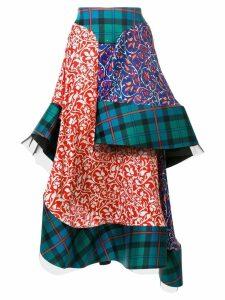 Esteban Cortazar tartan layered skirt - Multicolour