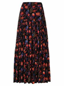 La Doublej floral tiered skirt - Black