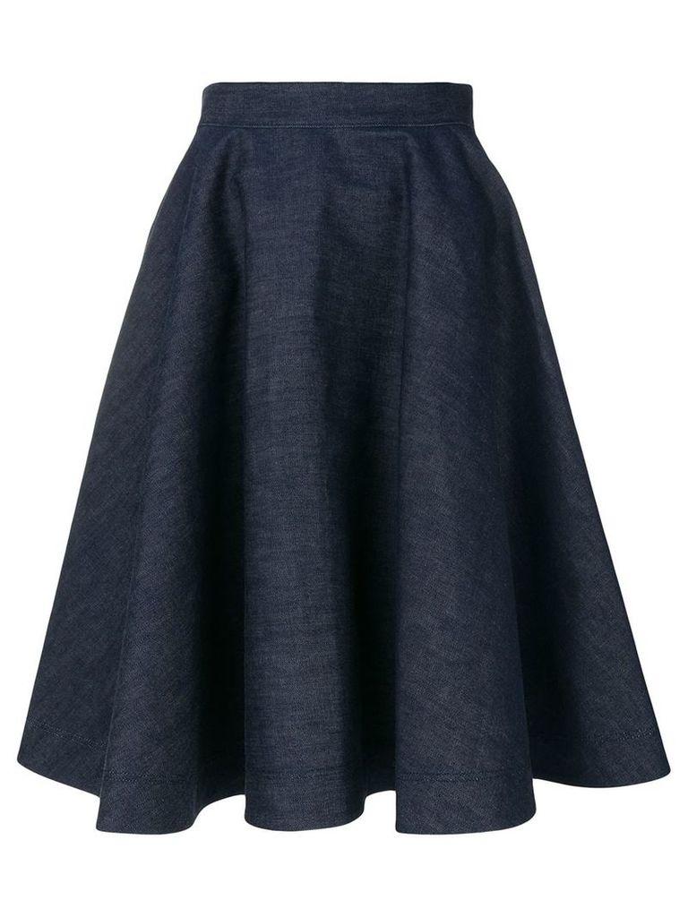 Calvin Klein 205W39nyc flared denim skirt - Blue