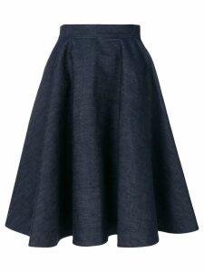 Calvin Klein 205W39nyc flared denim skirt - Blue
