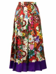 Gucci floral printed skirt - Multicolour