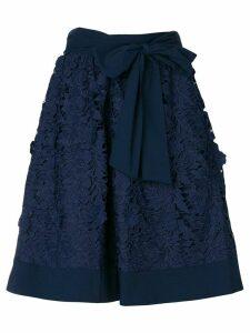 Steffen Schraut floral macrame skirt - Blue