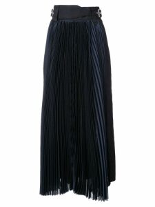 Sacai grid long skirt - Blue
