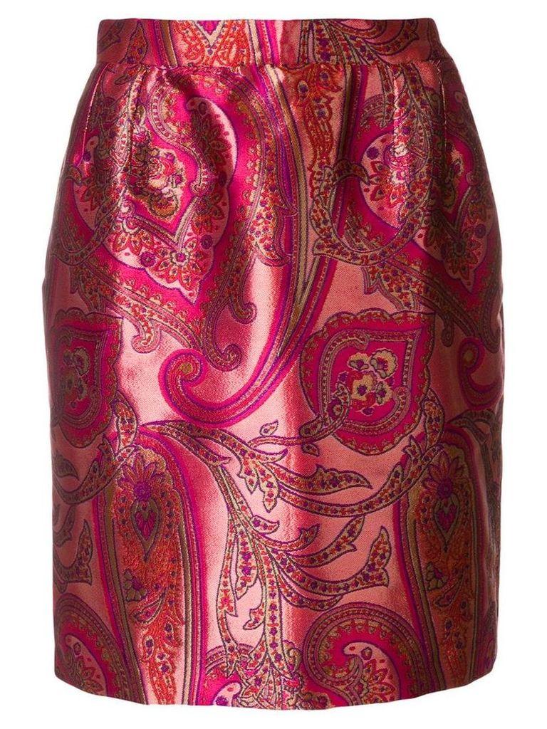 Yves Saint Laurent Pre-Owned paisley skirt - Pink