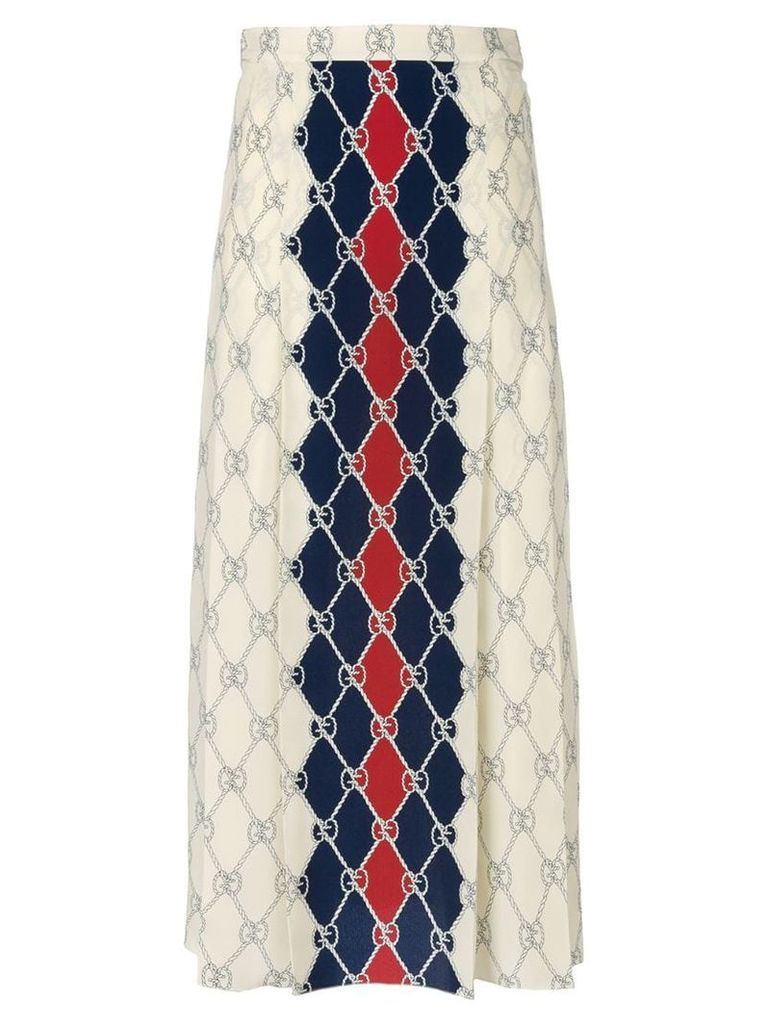 Gucci Gucci Rhombus skirt - Neutrals