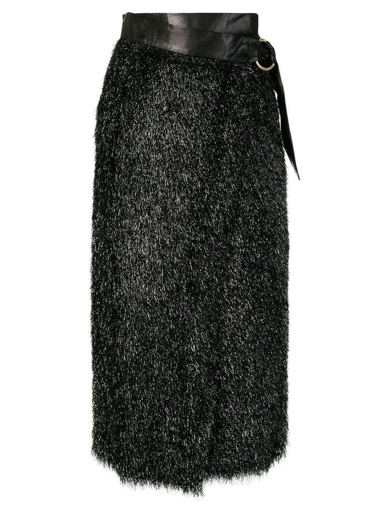 Petar Petrov belted high waist skirt - Black