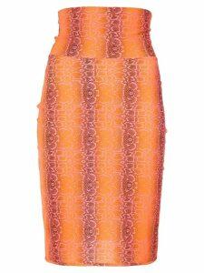 Amir Slama python print skirt - Yellow