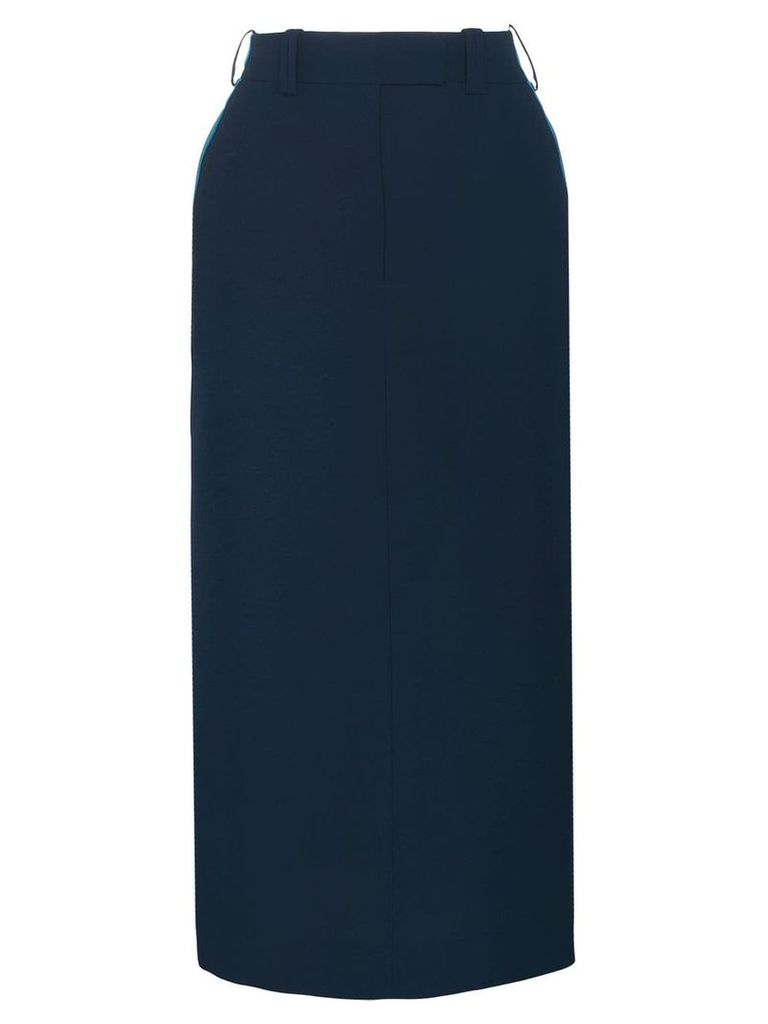 Calvin Klein 205W39nyc side detail midi skirt - Blue