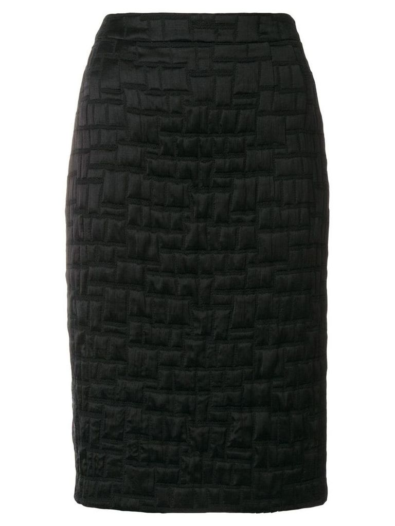 Talbot Runhof textured pencil skirt - Black