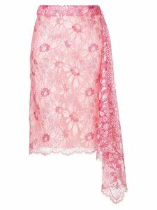 Calvin Klein 205W39nyc lace asymmetric skirt - Pink