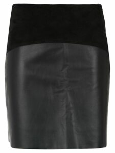 Egrey panelled skirt - Black