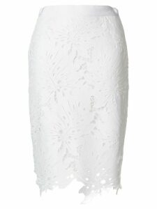 MSGM floral lace skirt - White