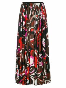 Emilio Pucci pleated printed skirt - Multicolour