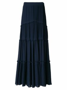 Tory Burch tiered skirt - Blue