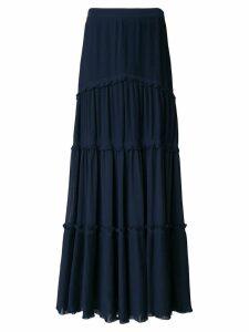 Tory Burch tiered skirt - Blue