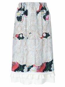 Comme Des Garçons Comme Des Garçons laser-cut floral midi skirt -