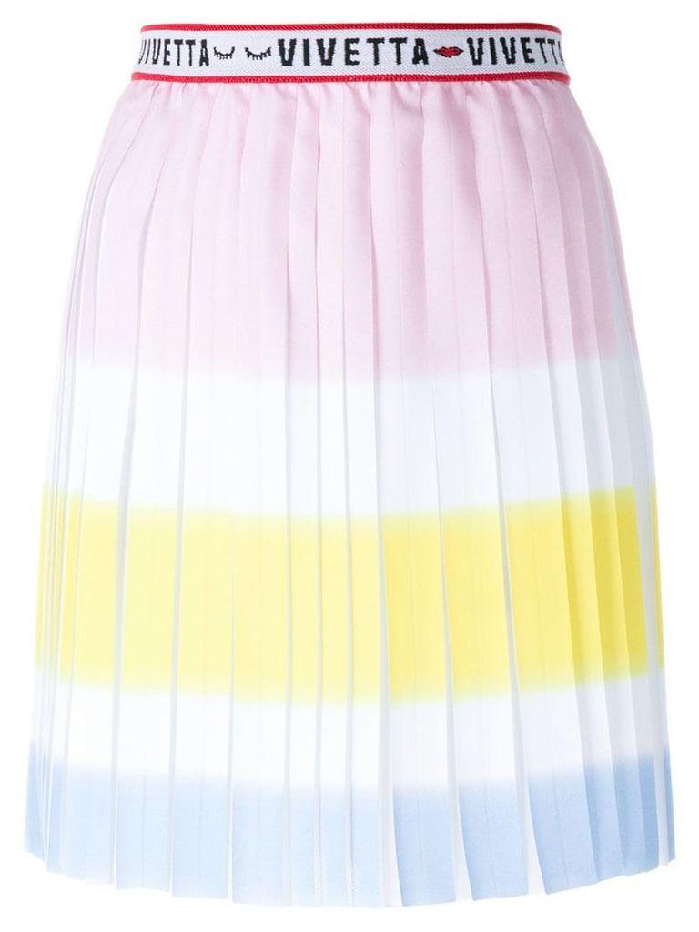 Vivetta high waisted pleated skirt - Multicolour