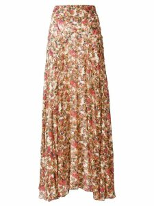 Isabel Marant Ferone floral print skirt - Red