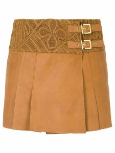 Martha Medeiros Mida wrap skirt - Brown