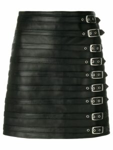 Manokhi multi buckle skirt - Black