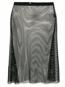 Helmut Lang mesh overlay skirt - Black