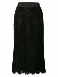 Dolce & Gabbana lace overlay skirt - Black