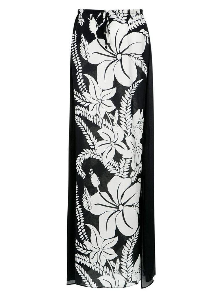 Amir Slama floral print skirt - Preto