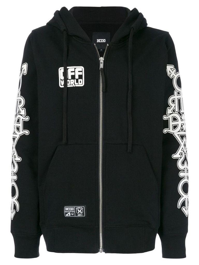 KTZ Masonic print hooded sweatshirt - Black