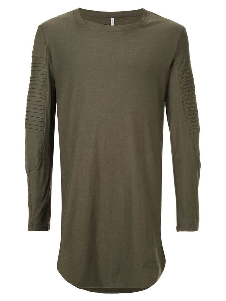 First Aid To The Injured long line shirt with ribbed panel details -