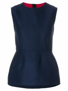 Marni panelled peplum blouse - Blue