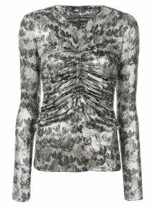 Isabel Marant Diego lurex top - Metallic