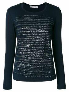D.Exterior glitter blouse - Blue