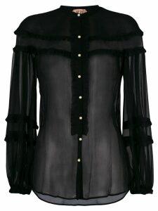 Nº21 sheer blouse - Black