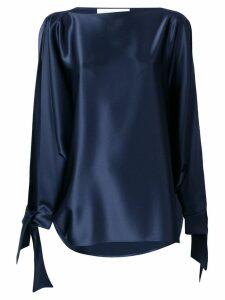 Gianluca Capannolo tie cuff blouse - Blue
