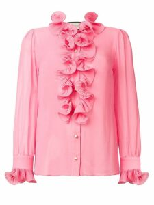 Gucci frill embroidered blouse - Pink