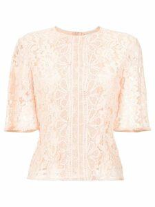 Martha Medeiros Madeleine lace blouse - Pink