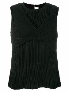 Victoria Victoria Beckham pleated twist blouse - Black