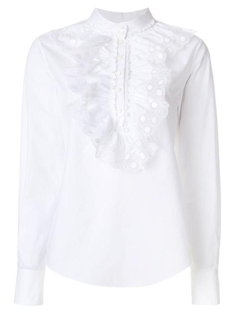 Chloé ruched crochet blouse - White
