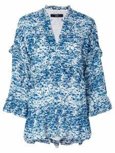Steffen Schraut frill detail blouse - Blue