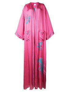 Vionnet logo embroidered long cardigan - Pink